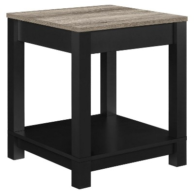 Paramount End Table Black/ Sonoma Oak - Room & Joy