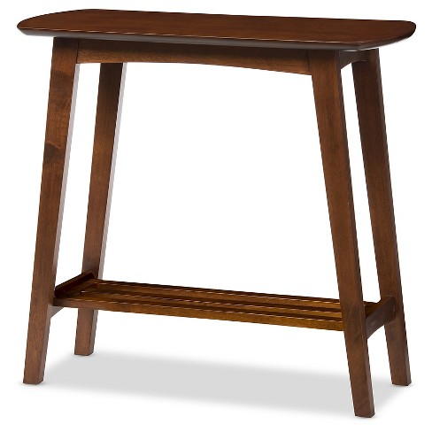 Sacramento Mid-century Modern Scandinavian Style Console Table - Dark Walnut - Baxton Studio - image 1 of 4