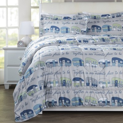 Lakeside Our Favorite Place is Together Comforter Set with 2 Pillow Shams