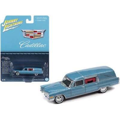 "1966 Cadillac Hearse Light Blue Metallic ""Special Edition"" 1/64 Diecast Model Car by Johnny Lightning"