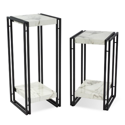 Urban Accent Table Marble - Atlantic