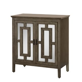 Devon Cabinet with Mirror - Weathered Gray - Buylateral