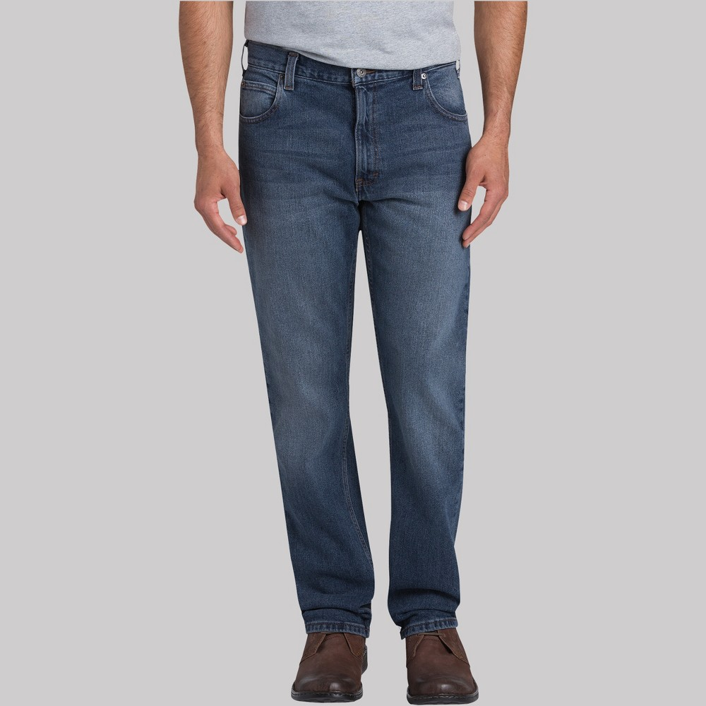 Dickies Men's Regular Straight Fit Jeans - Medium Denim Wash 32x32