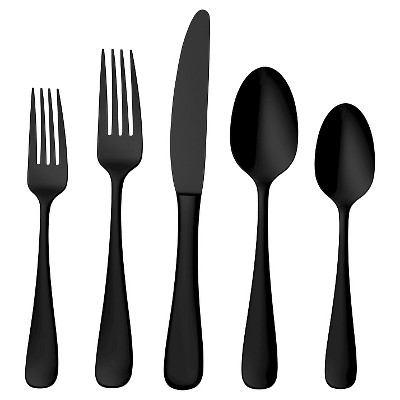 Skandia Opera Gunmetal - 20 Piece Flatware Set, Service for 4, Titanium