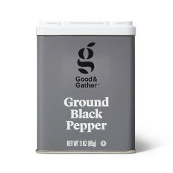 Ground Black Pepper - 3oz - Good & Gather™