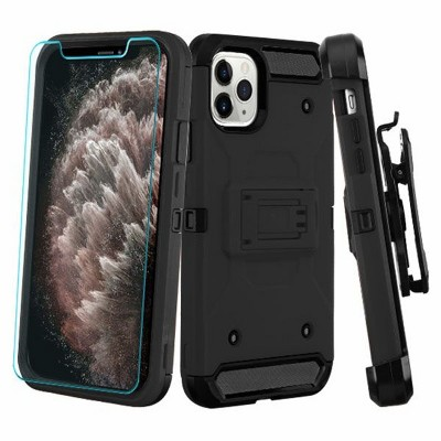 3-in-1 Kinetic Dual Layer Hybrid Stand PC/TPU Rubber Holster Case Cover For Apple iPhone