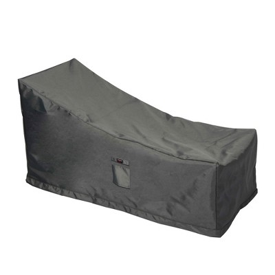 Shield Titanium 3-Layer Polyester Outdoor Chaise Lounge Covers, Dark Grey