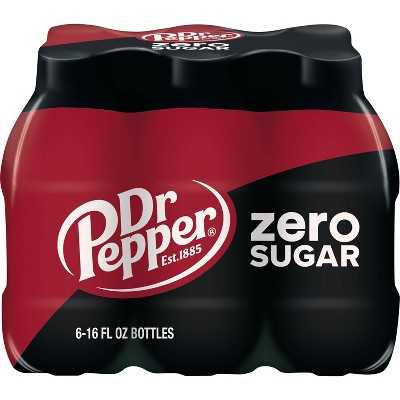 Dr Pepper Zero Sugar - 6pk/16 fl oz PET Bottles
