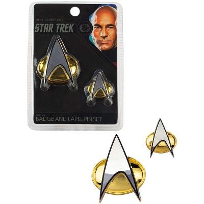Quantum Mechanix Star Trek The Next Generation Communicator Badge and Lapel Pin Set