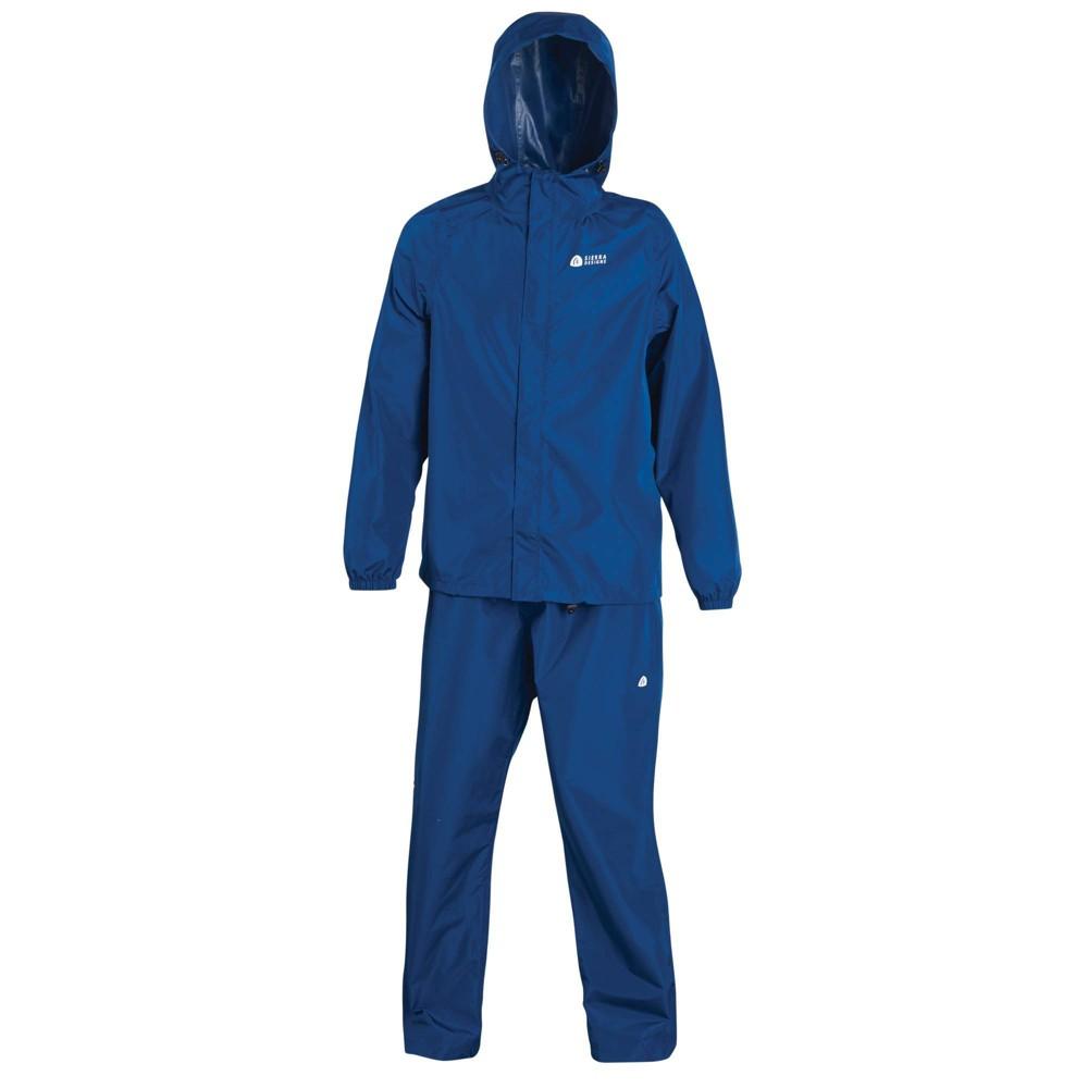Image of Sierra Designs Adult Packable Rain Set Blue - M/L