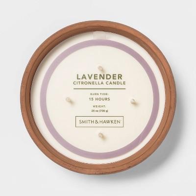 25oz Citronella 4-Wick Candle in Terracotta Pot Lavender - Smith & Hawken™