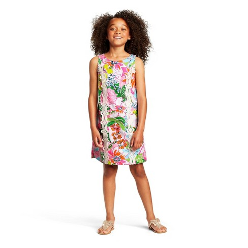 Girls' Nosey Posie Sleeveless Round Neck Shift Mini Dress - Lilly Pulitzer for Target - image 1 of 4