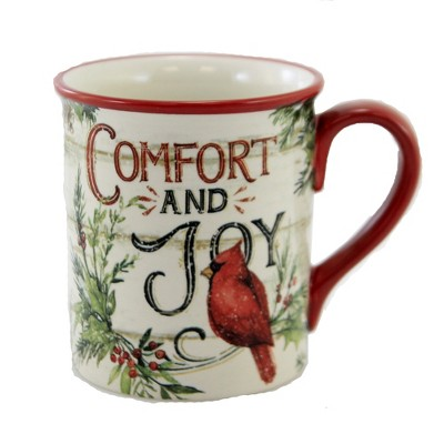 "Tabletop 4.0"" Evergreen Christmas Mug Cardinal Holiday Certified International  -  Drinkware"