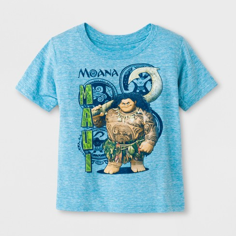 Toddler Boys' Moana-Maui Short Sleeve T-Shirt - Blue - image 1 of 1