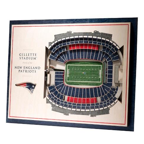 NFL New England Patriots 5-Layer StadiumViews 3D Wall Art - image 1 of 5