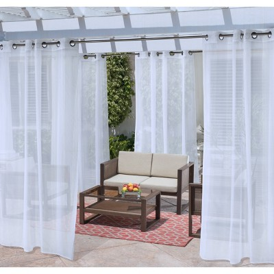 No Se'em Grommet Top Solid Mesh Indoor/Outdoor Curtain Panel - Outdoor Décor