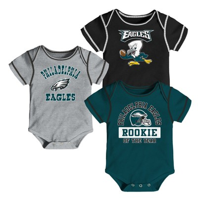 Philadelphia Eagles Boys' Newest Fan 3pk Bodysuit Set 6-9 M