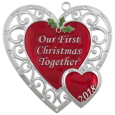 Harvey Lewis 2018 Our First Christmas Together Christmas Ornament with Crystals from Swarovski