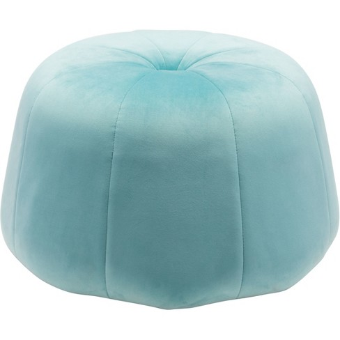 Awe Inspiring Modern Velvet Tufted Ottoman Light Blue Zm Home Gmtry Best Dining Table And Chair Ideas Images Gmtryco