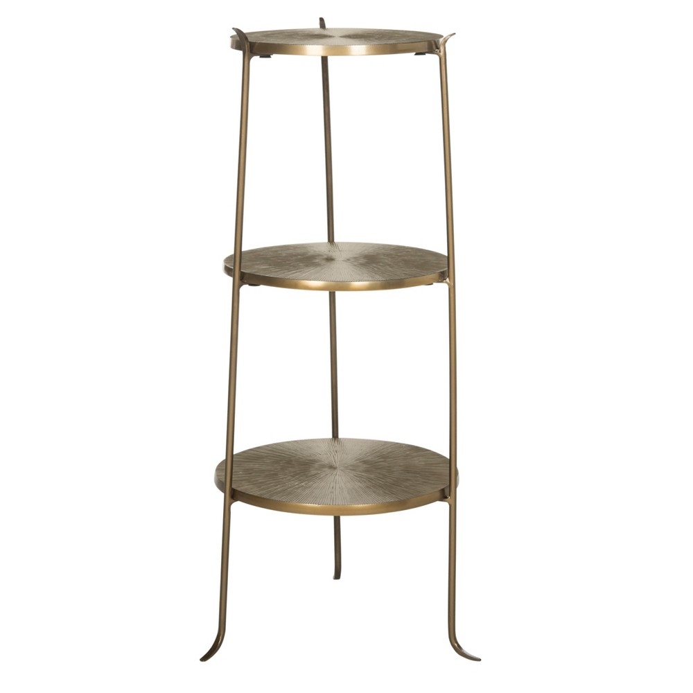 Elda Side Table - Brass - Safavieh