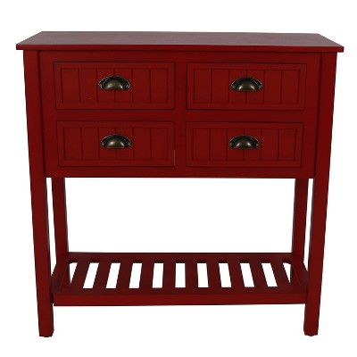 Bailey Bead Board 4 Drawer Console Table - Décor Therapy