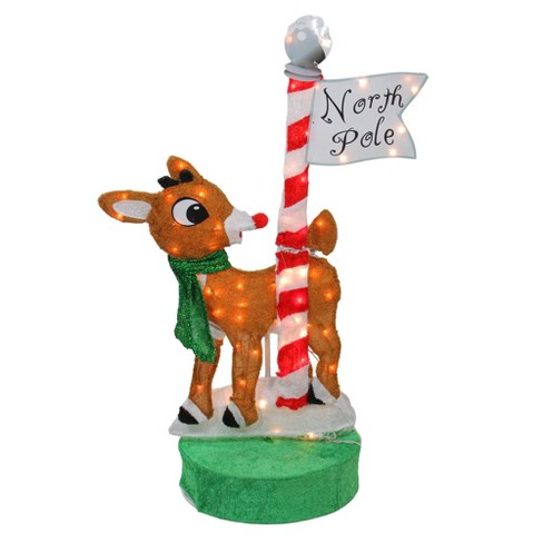 15 Pre-lit Rudolph The Red Nosed Reindeer Clarice Christmas Outdoor Decoration Clear Lights