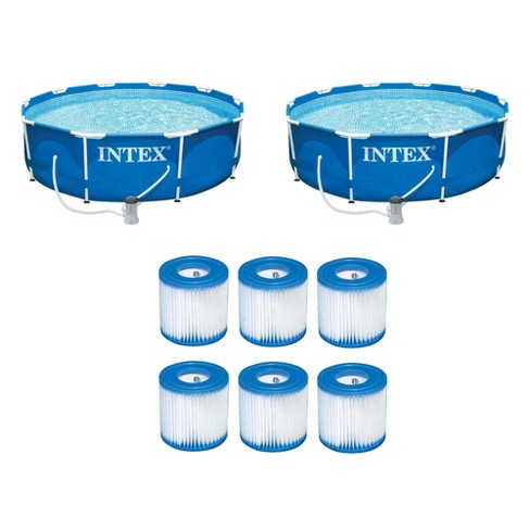 "Intex 10'x30"" Swimming Pool Set w/ Filter Pump (2 Pack) Filter Cartridge(6 Pack) - image 1 of 4"