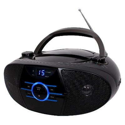 Jensen AM/FM Radio CD Boombox with LED Display - Black (CD-560)