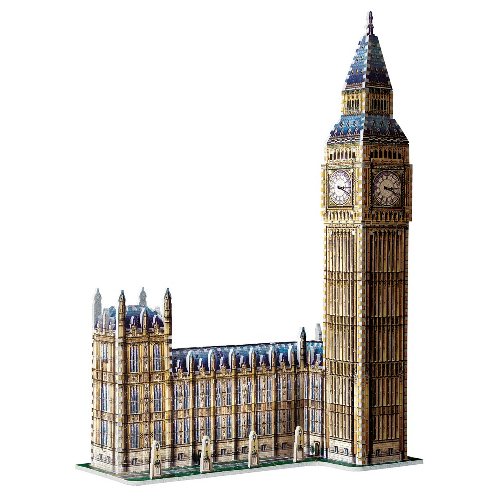 Wrebbit 3D - Big Ben 3D Puzzle 890pc One of the most loved models from our first generation of 3D puzzles, Big Ben is back bigger than ever with the addition of the Houses of Parliament. After the 2012 London Olympic Games and the renaming of the Clock Tower to Elizabeth Tower in honor of the Queen's Jubilee, this model should easily win the favour of many puzzle fans for many years. Ages - 12 and up. Number of pieces - 890. Approximate finished dimensions - 18.9 x 10.63 x 28.74 inches. Warning: Choking Hazard - Small parts. Not for children under 3 yrs. Gender: Unisex.