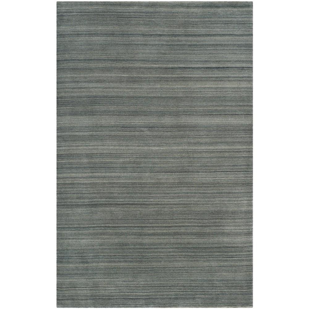6'X9' Spacedye Design Loomed Area Rug Slate/Blue (Grey/Blue) - Safavieh