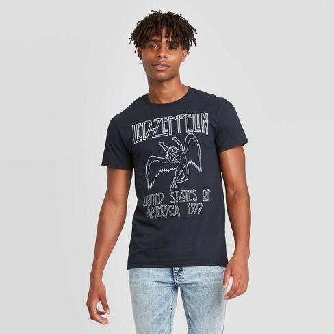 Men's Led Zeppelin Short Sleeve Graphic Crewneck T-Shirt - Black - image 1 of 2