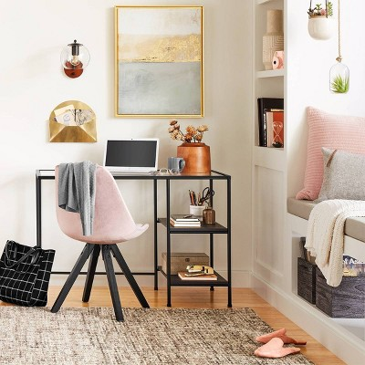 Modern Small Space Home Office With Trendy Glass Top Desk Collection Project 62 Target