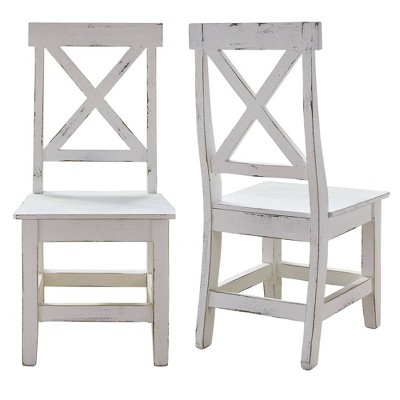 Brixton Wooden Side Chair Set White - Picket House Furnishings