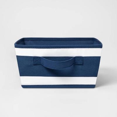 Small Canvas Stripe Bin Navy - Pillowfort™