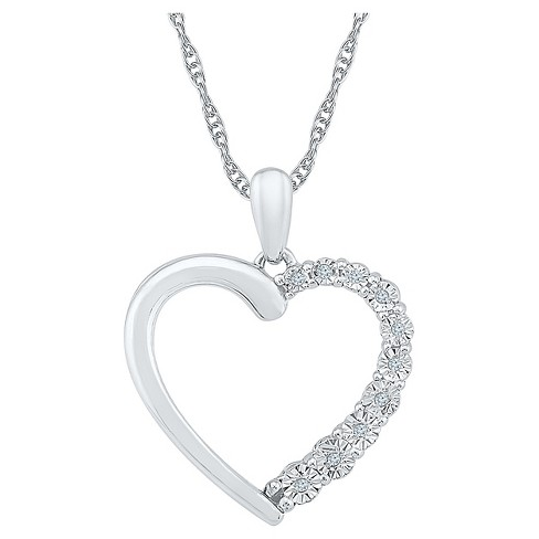Diamond Accent Round White Diamond Heart Pendant in Sterling Silver - image 1 of 1