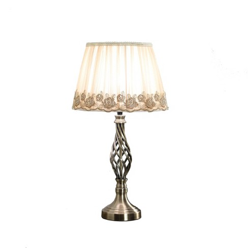 Abbott Antique Table Lamp Silver Only Ore International