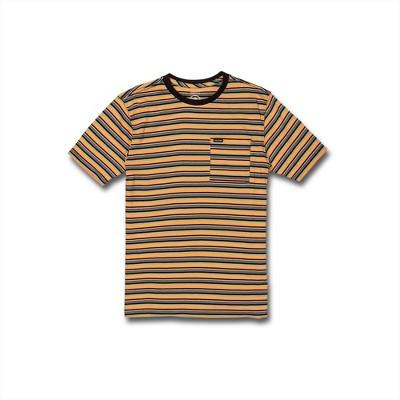 Volcom Boys Cornette Crew Striped Short Sleeve Tee