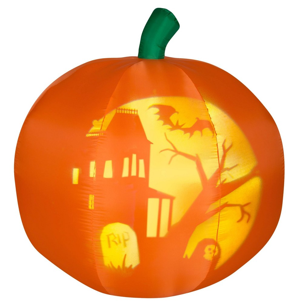 Panoramic Pumpkin Inflatable Halloween Decor