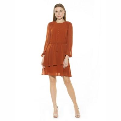 Alexia Admor Balia Dropped Waist Ruffle Dress
