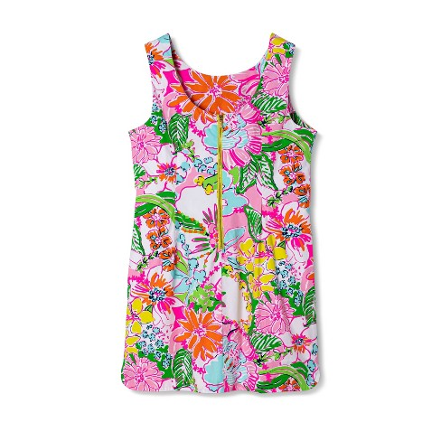 Women\'s Plus Size Nosey Posie Sleeveless Round Neck Shift Mini Dress -  Lilly Pulitzer for Target 18W