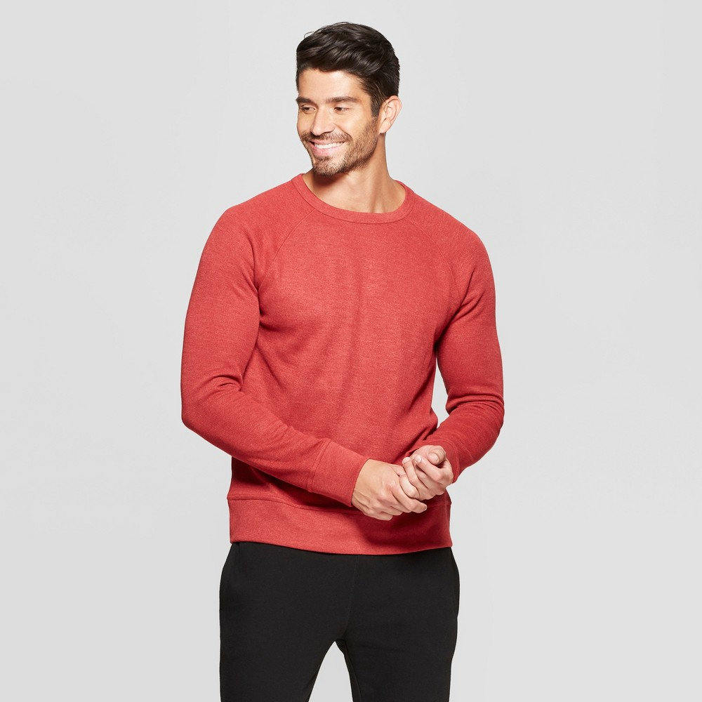 Men's Standard Fit Long Sleeve Waffle Thermal T-Shirt - Goodfellow & Co Ripe Red M