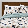 Dusty Jade Reversible Velvet Floral Print Comforter & Sham Set - Opalhouse™ - image 2 of 4