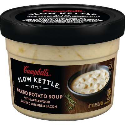 Campbell's Slow Kettle Style Baked Potato with Bacon Soup Microwaveable Bowl 15.5oz