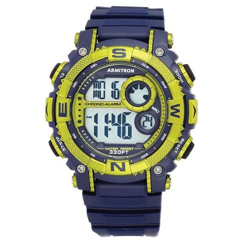 Men's Armitron® Pro-Sport Digital Watch - Blue/Green - image 1 of 1