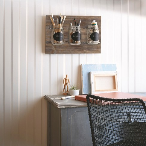 Wooden Plaque with Mason Jars - Threshold™ - image 1 of 3