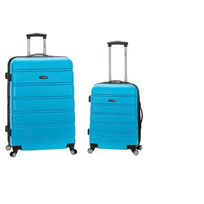 Rockland Melbourne Expandable ABS Spinner Luggage Set - Turquoise