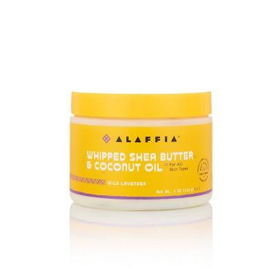 Alaffia Whipped Shea Butter & Coconut Oil Body Lotion - Lavender - 4 fl oz