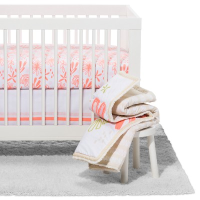 Crib Bedding Set Little Sprout 4pc - Cloud Island™ - Coral