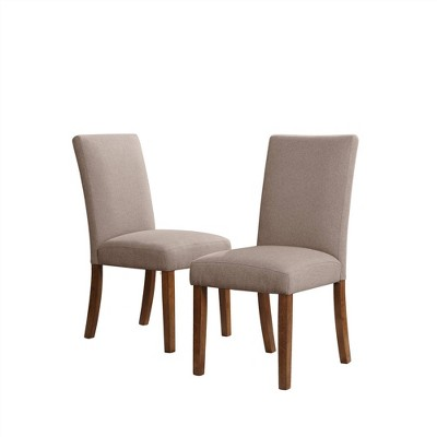 Set of 2 Kayla Linen Upholstered Parsons Chairs - Room & Joy