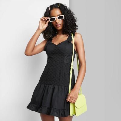 Women's Tie-Strap Bra Cup Eyelet Detail Dress - Wild Fable™